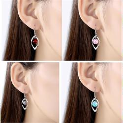 bông tai nữ thời trang gắn đá màu siêu đẹp