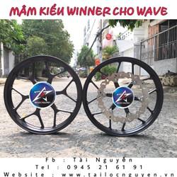MÂM RAIDER KIỂU WINNER CHO XE WAVE KÈM ĐĨA 290MM