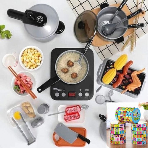 Quà đỉnh 0đ mua bộ đồ chơi nấu ăn cho bé tăng 1 rubic toán học phát triển trí tuệ cho bé