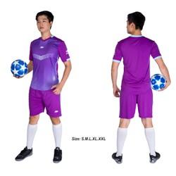 Đồ bộ quần áo thể thao bóng đá nam FT màu Tím Thời trang Everest - Thun dày đẹp - Chất vải đẹp form chuẩn