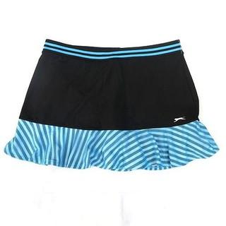 TH7618 Quần giả váy thể thao Slazenger đen viền bèo sọc đen trắng ren xanh WSG37054 - TH7618 thumbnail