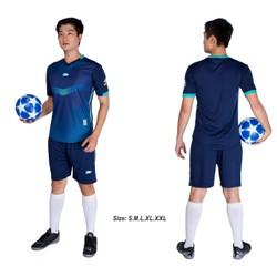 Đồ bộ quần áo thể thao bóng đá nam FT màu Xanh Đen Thời trang Everest - Thun dày đẹp - Chất vải đẹp form chuẩn