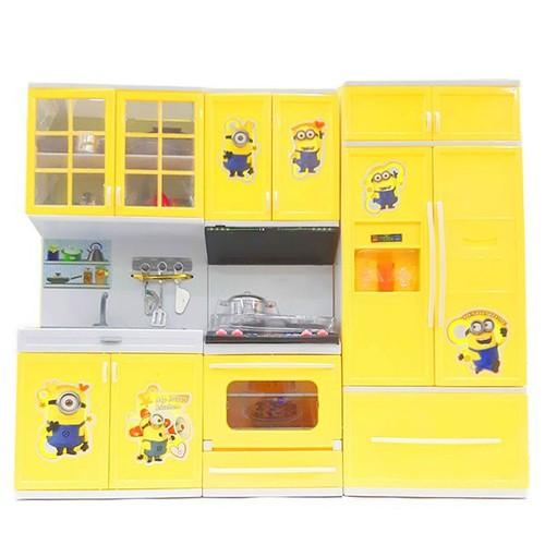 Bộ nhà bếp tủ lạnh tủ chén tủ bếp kèm phụ kiện cho bé