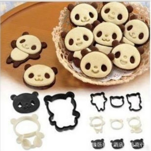 Set 4 cutter gấu panda