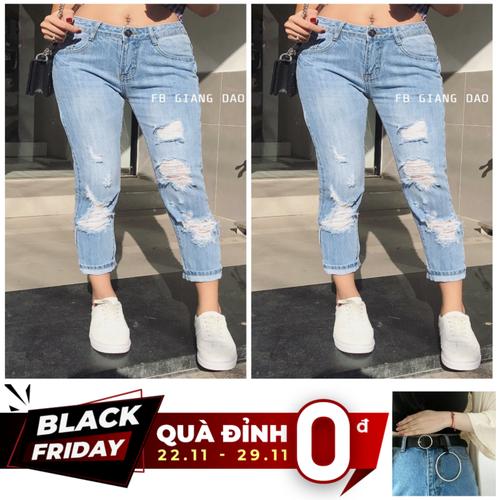 [Quà đỉnh 0đ] quần jean nữ baggy bigsize rách đẹp lưng cao năng động cá tính 2066 - tặng dây thắt lưng đẹp