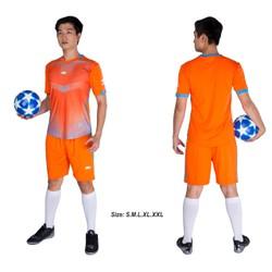 Đồ bộ quần áo thể thao bóng đá nam FT màu Cam Thời trang Everest - Thun dày đẹp - Chất vải đẹp form chuẩn
