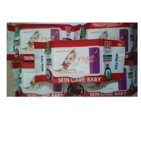 Combo 10 gói khăn giấy ướt baby hương dịu nhẹ - gói 80 gr - khan