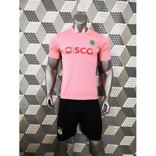 Bộ quần áo bóng đá clb hà nội màu hồng đồ đá banh mới 2019-20