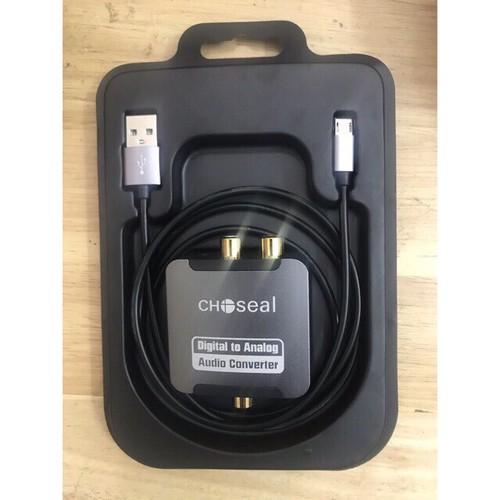Bộ chuyển âm thanh quang optical sang av hãng choseal bản cao cấp + tặng dây quang dài 1m