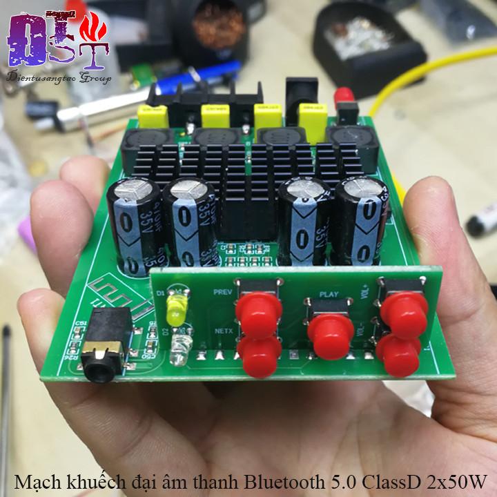 Mạch khuếch đại âm thanh Bluetooth 5.0 ClassD 2x50W
