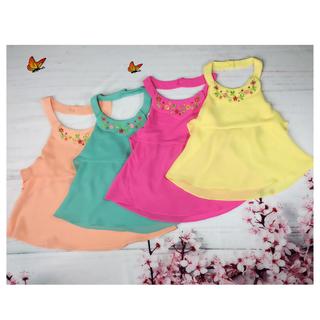 Áo bé gái kiểu yếm thêu hoa 8-21kg - chất vải chiffon mềm mịn - Red Ant Kids - AG-045 thumbnail