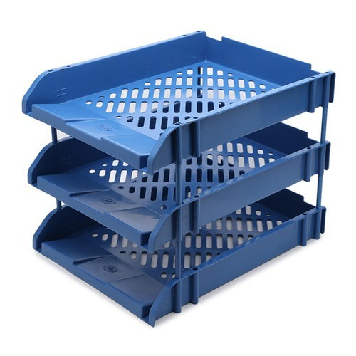 Giá 3 tầng - desk tray - 3 layers - blue - a0082