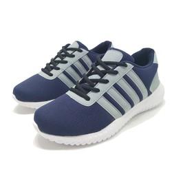Giày thể thao nam xanh sọc xám