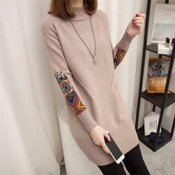 Áo len dài tay thổ cẩm