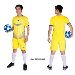 Đồ bộ quần áo thể thao bóng đá nam FT màu Vàng Thời trang Everest - Thun dày đẹp - Chất vải đẹp form chuẩn