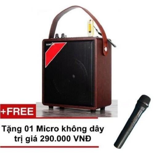 Loa karaoke a061 tặng kèm micro không dây giá cực rẻ