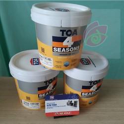 Sơn nước nội thất TOA 4 Seasons Interior Top Silk 1 Lít màu trắng- Dễ lau chùi