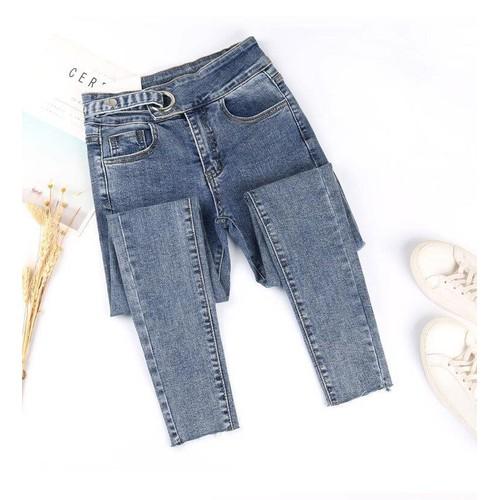 Quần jeans màu xám khói nữ co giãn bó sát chín tất - 18929758 , 23733481 , 15_23733481 , 300000 , Quan-jeans-mau-xam-khoi-nu-co-gian-bo-sat-chin-tat-15_23733481 , sendo.vn , Quần jeans màu xám khói nữ co giãn bó sát chín tất