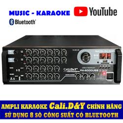 Amply karaoke nghe nhạc gia đình USB BLUETOOTH 4.0 Cali DY PA-6000USB