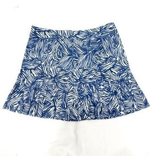 CT5522 Quần giả váy hoa văn xanh trắng xếp li chân váy Lady Hagen WGH17141 - CT5522 thumbnail