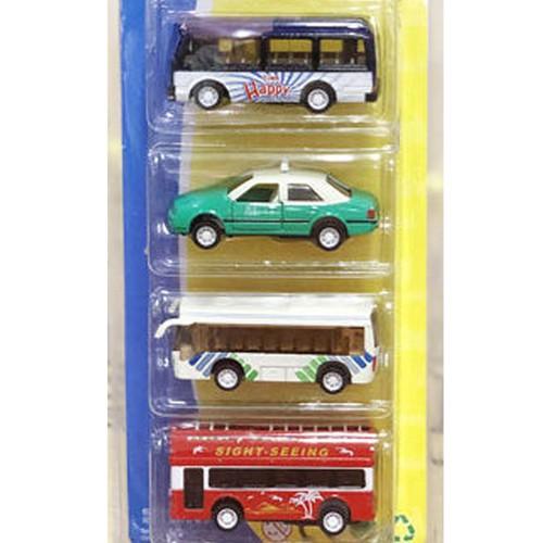 Bộ đồ chơi xe buýt, taxi chạy trớn cho bé