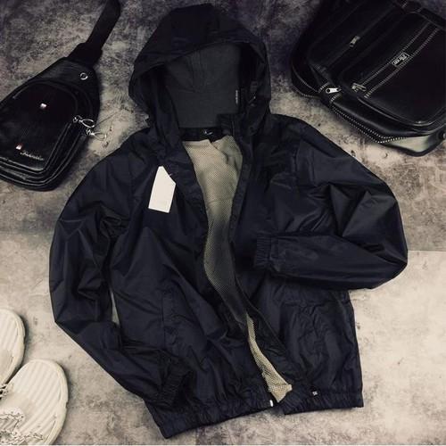 Áo khoác dù nam -màu đen -áo khoac dù nam,nữ màu đen
