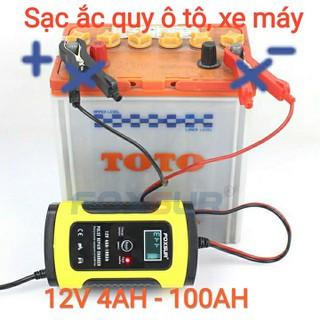 Sạc bình ắc quy ô tô xe máy 12V 4Ah - 100Ah tự ngắt khi đầy chức năng bảo dưỡng phục hồi ắc quy bằng khử sunfat - sac 12V 4Ah - 100Ah FOXSUR thumbnail