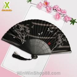 Quạt cổ trang dây tuyến cổ đại Trung Quốc Quạt xếp cầm tay phong cách Trung Quốc
