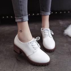 Giày oxford nữ gót vuông cao 5cm