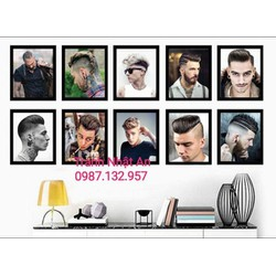 Bộ 10 tranh formex trang trí Salon tóc