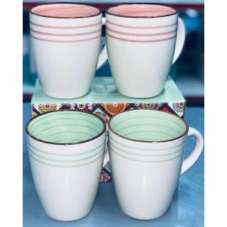 Combo 2 cốc sứ trắng đẹp -Cốc sứ - Cốc sứ mầu hồng - Đồ sứ - Hàng đẹp loại 1 khách nhé - Combo 2 cốc sứ trắng đẹp thumbnail