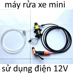máy bơm tăng áp rửa xe mini 12V