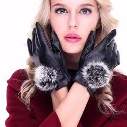 Găng tay da nữ - Găng tay da nữ thời trang - găng tay nữ
