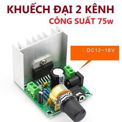 Bộ khuếch đại âm thanh 2.0 công suất 75w