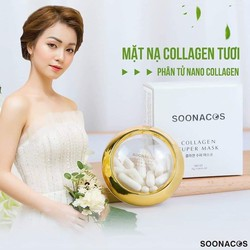 Mặt nạ Collagen Tươi SOONACOS Hàn Quốc - fullbox 20 viên