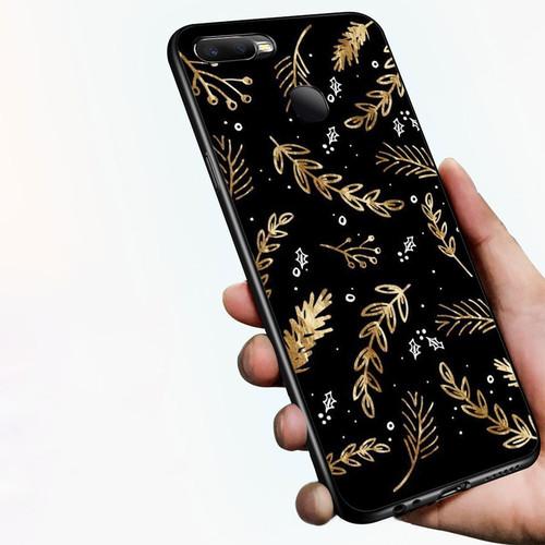 Ốp điện thoại dành cho máy oppo a7 2018 - 1811 hình vẽ hoa lá ms dmt003