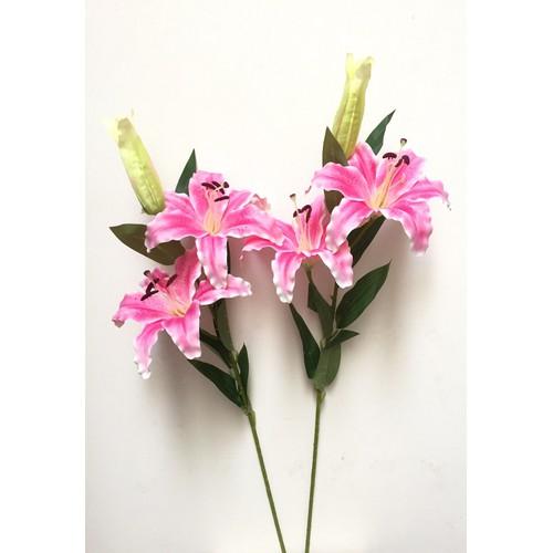 Hoa giả - cành hoa bách hợp 2 bông