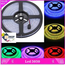 Dây đèn led 5050 - 12v có phủ silicon chống nước dài 5m