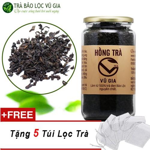 Hồng trà [ trà đen ] cao cấp nguyên chất bảo lộc vũ gia [200gr-hũ] + 5 túi lọc đựng trà  - tăng cường miễn dịch, giúp giảm cân béo phì, tốt cho hệ tiêu hóa - 20750448 , 23749698 , 15_23749698 , 115000 , Hong-tra-tra-den-cao-cap-nguyen-chat-bao-loc-vu-gia-200gr-hu-5-tui-loc-dung-tra-tang-cuong-mien-dich-giup-giam-can-beo-phi-tot-cho-he-tieu-hoa-15_23749698 , sendo.vn , Hồng trà [ trà đen ] cao cấp nguyên c