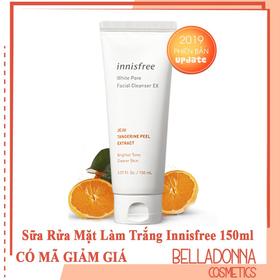 Sữa Rửa Mặt Làm Trắng Và Se Lỗ Chân Lông Innisfree White Pore Facial Cleanser 150ml - innisfree-srmtrang
