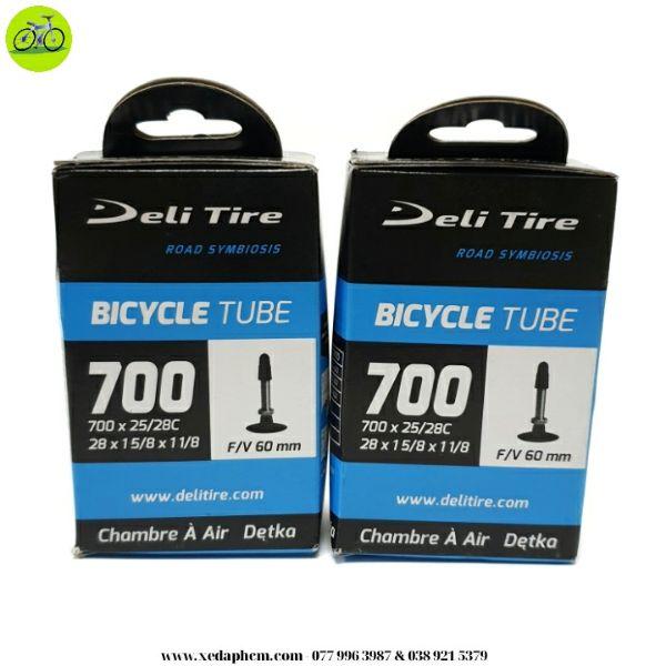 cặp 2 ruột săm xe đạp Deli Tire 700x25-28c