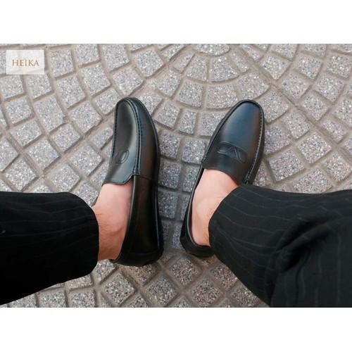 Giày lười_giày mọi nam gl208 phong cách lịch lãm, sang trọng-tặng kèm lót giày da