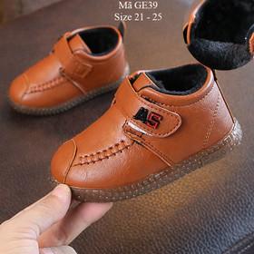 Giày bốt bé trai giày cổ cao cho bé trai 1 đến 3 tuổi lót lông ấm áp GE39 - GE39