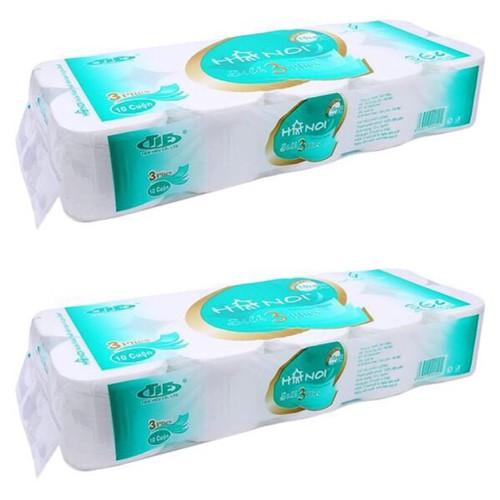 Combo 2 bịch giấy vệ sinh hà nội dây 10 cuộn 1 bịch