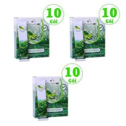 Combo 3 hộp cà phê xanh giảm cân kháng mỡ Thiên Nhiên Việt - hộp 10 gói