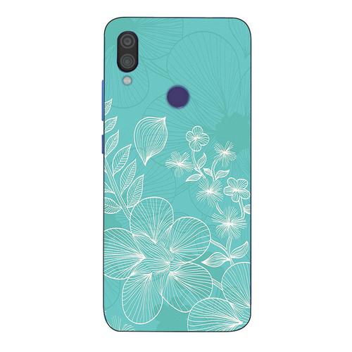 Ốp điện thoại dành cho máy xiaomi redmi note 7 - 1811 hình hoa lá ms dmt006