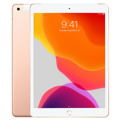 [Áp dụng tại HCM] iPad 2019 10.2 Wi-Fi + 4G 128GB Vàng Gold - 00607827