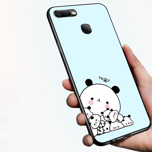 Ốp điện thoại dành cho máy oppo a7 2018 - 1811 gia đình gấu trúc ms dmt004