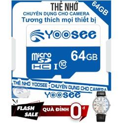 [ Siêu SALE - Freeship 69k ] Thẻ nhớ MicroSD YOOSEE 64GB C10 - Tặng đồng hồ đeo tay