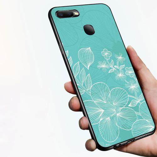 Ốp điện thoại dành cho máy oppo a7 2018 - 1811 hình hoa lá ms dmt006